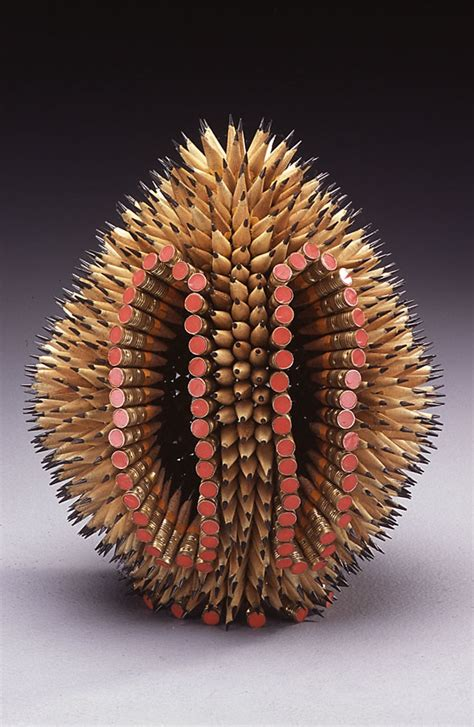 Sculptures made of colored pencils