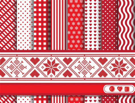 Scandinavian inspired Merry Christmas nordic pattern with
